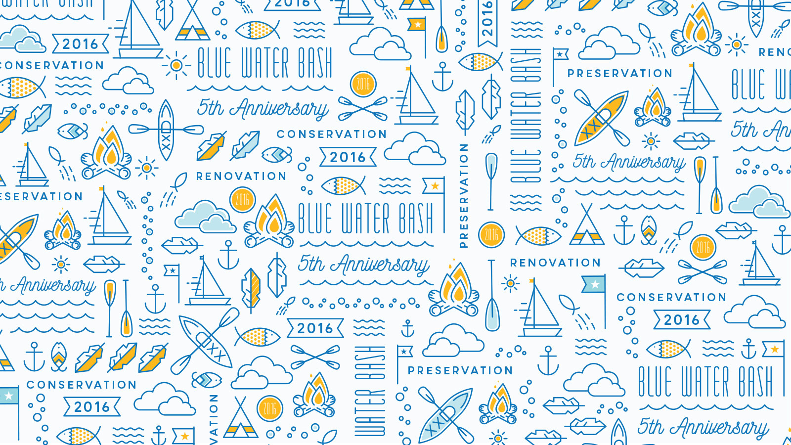 Boys Town Blue Water Bash Pattern