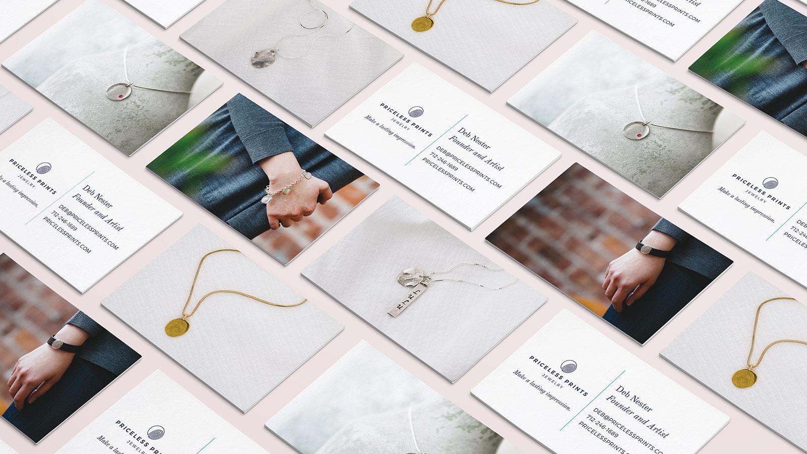 Priceless Prints Jewelry business cards