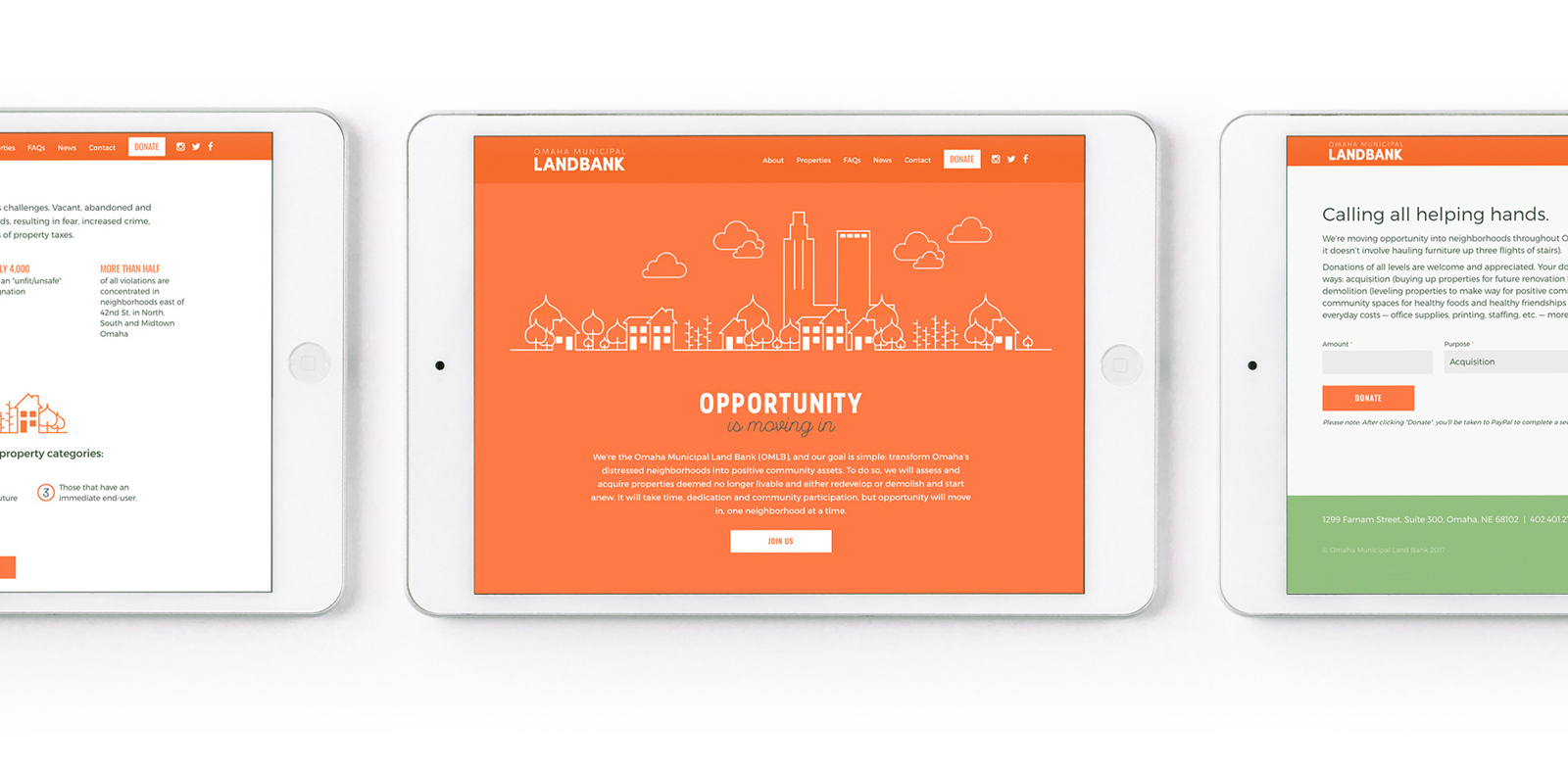Omaha Land Bank website
